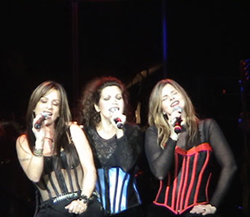 Gioia Bruno, Jeanette Jurado and Ann Curless perform in Milwaukee, Wi in Nov 2006