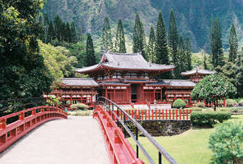 Byodo-In Temple in Kaneohe - Oahu