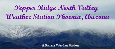 Pepper Ridge Weather Station